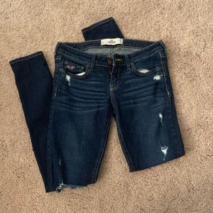 Ripped hollister skinny jeans